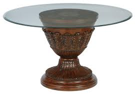 Round Dining Table With Glass Top Millennium Ledelle 54