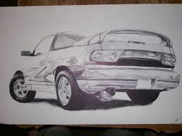 did you ever sketch cars drawings of real cars or your cars cars