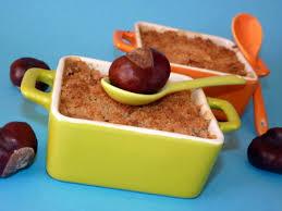 cuisiner la chataigne recette crumble chataigne pommes marrons noix cuisinez crumble