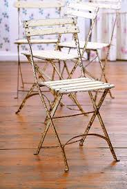 Blue Bistro Chairs Marvelous Vintage Bistro Chairs Set Of 8 Blue And Cream French