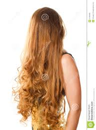 hairstyle from long curly hair stock photography image 21362082