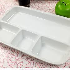 tray plates divided tv dinner tray white stoneware novelty dinnerware
