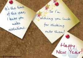 new year luck free resolutions ecards greeting cards