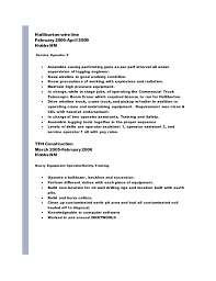 Sample Resume For Heavy Equipment Operator by Download Halliburton Field Engineer Sample Resume