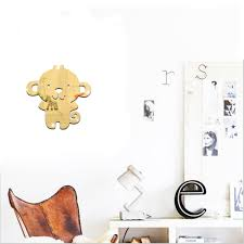 popular monkey wall paper buy cheap lots from home decoration sticker modern acrylic mirrored decorative monkey mirror stickers wall paper diy gift