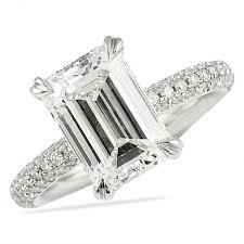 engagement rings emerald cut lepozzi 3 ct emerald cut diamond engagement ring b
