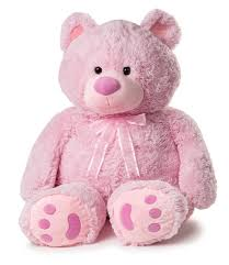 amazon com huge teddy bear pink toys u0026 games