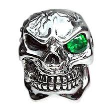 mens rings silver images Sterling silver emerald mafia skull mens rings bikerringshop jpg