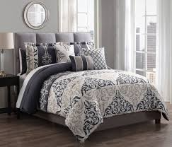 Taupe Comforter Sets Queen Piece Maral Charcoal Taupe Comforter Set