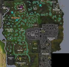 Oldschool Runescape World Map by Mort Myre Swamp Darkscape Wiki Fandom Powered By Wikia