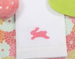 easter napkins embroidered rabbit sketch napkins easter linens set of 4