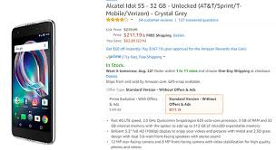 amazon black friday unlocked phone deals deal the unlocked alcatel idol 5s with android 7 1 nougat is on