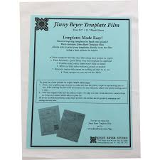 Plastic Template Sheets Supplies Jinny Beyer Multi Purpose Template