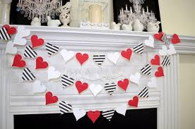 Red Wedding Decorations Paper Heart Garland Valentines Day Garland Queen Of Hearts