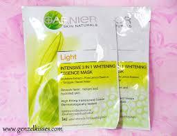 Masker Garnier Lemon garnier light 3 in 1 whitening essence mask zel she sings