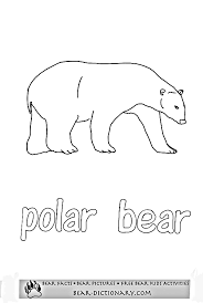 polar bear coloring toby u0027s polar bear images color polar