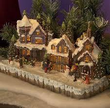 konstsmide 3317 000 fibre optic christmas village scene