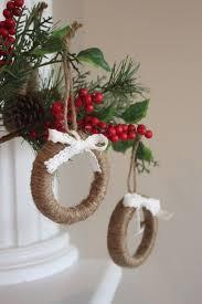 6 rustic tree ornaments mini wreaths mini wreath ornaments