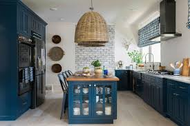 slate blue painted kitchen cabinets being bold go for color on kitchen cabinets