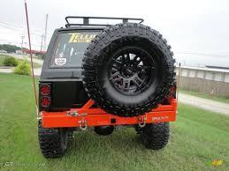 jeep cherokee orange 1992 orange black jeep cherokee sport 4x4 18641247 photo 4