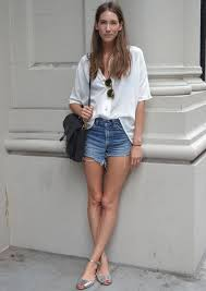 Muito Duo We Love: Short Jeans e Blusa Branca » STEAL THE LOOK #DJ76