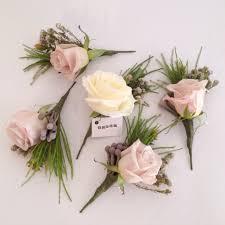 wedding flowers surrey dusky pink menta and brunia berry buttonholes surrey wedding