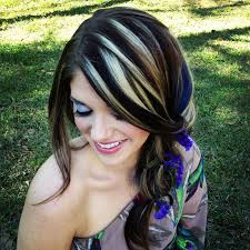 blonde hair with chunky highlights funky highlights for blonde hair funky hair highlights ideas for
