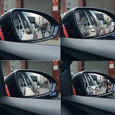 Blind Spot Mirrors For Motorcycles 2 Pack Slim Square 360 Rotate 20 Sway Adjustabe Blind Spot