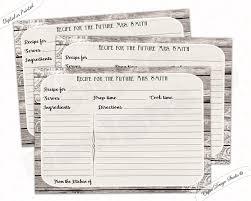 printable recipe cards 4 x 6 recipe cards for bridal shower recipe cards printable recipe