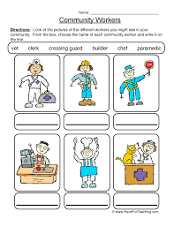 community worksheets have fun teaching