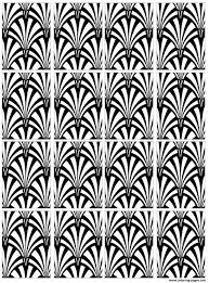 motif art deco 2 coloring pages printable