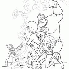 bob parr throwing boss incredibles coloring bob