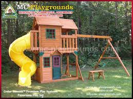 Backyard Play Systems by Cedar Summit Premium Play Systems Panorama Play Set Mc