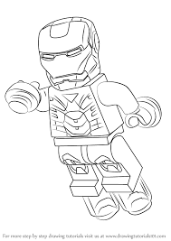 how to draw coloring pages learn how to draw lego iron man lego step by step drawing