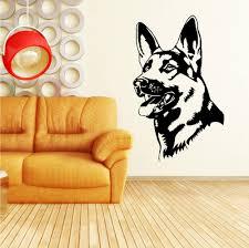 dog home decor aliexpress com buy three size removable german shepherd alsatian