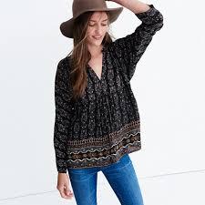 popover blouse silk bohème popover shirt in burnished floral tops blouses