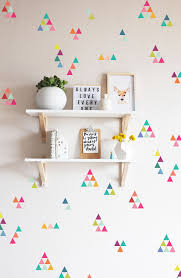 extra tiny triangles rainbow wall decal kids rooms pinterest