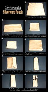 napkin folding guide finished silverware pouch this is how you