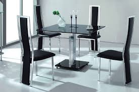 Black Glass Dining Table And Chairs Furniture Round Mocha Granite Dining Table Top With Black Legs