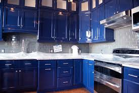 painting kitchen cabinets grey blue kicking it up a notch with high gloss paint paints of