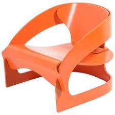 Orange Armchair Joe Colombo Lounge Chairs 17 For Sale At 1stdibs