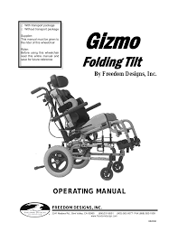 freedom designs gizmo tilt in space user manual 44 pages