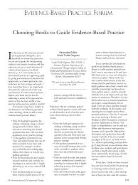 What Book Is Seeking Based On Choosing Books To Guide Evidence Based Practice American Journal