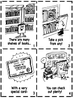 library activities and library cards theme unit printables