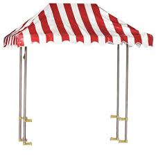 Red And White Striped Awning Gold Medal 2144 Solid Red Tent Style Awning With Frame For 48