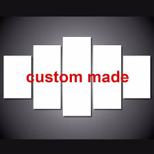 popular custom wall art buy cheap custom wall art lots from china drop shipping 5 panel wall pictures printed painting on canvas wall art home decor customization canvas