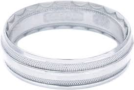 tacori wedding bands tacori men s wedding band with crescent design 6 0mm 766w