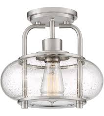 Quoizel Flush Mount Ceiling Light Quoizel Trg1710bn Trilogy 1 Light 10 Inch Brushed Nickel Semi