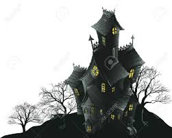 haunted houses clipart spooky clipart haunted mansion pencil and in color spooky