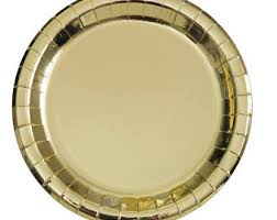 paper plates gold paper plates etsy
